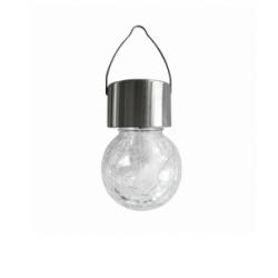 Lampka solarna wisząca kulka szkło/inox RGB 304704