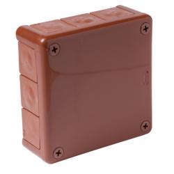 Puszka brązowa n/t 110x110x35 z gumami 051-02 ViPl