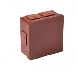 Puszka brązowa n/t 80x80x32 IP55 guma 002-02 ViPl