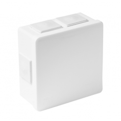 Puszka biała n/t 80x80x32 IP55 guma 002-01 ViPlast