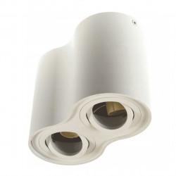 Lampa sufitowa TUBA podwójna SIROCO biała GU10 BOWI