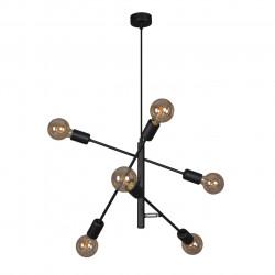 Lampa wisząca CAMARA K-4751 VI czarna 6xE27 KAJA