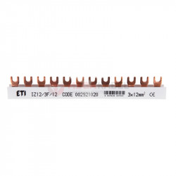 Szyna łączeniowa widełkowa 3P 80A 12mm2 (12 mod.) IZ12/3F/12 002921020