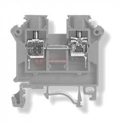 Złączka szynowa 2-przewod. 6mm szara ZSG1-6Ns