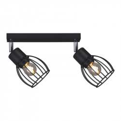 Lampa plafon MIKA K-4565 II black E27 Kaja