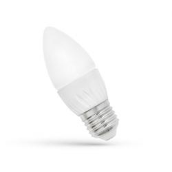 Żarówka LED E27 świecowa 8W 230V ciepła WW Spectr