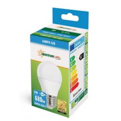 Żarówka LED kulka E27 230V 8W zimna CW SPECTRUM