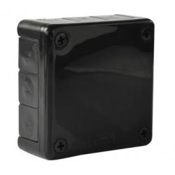 Puszka czarna n/t 90x90x30 z gumami 041-05 ViPlast