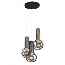Lampa wisząca ARVI K-4522 black/gold III E27 KAJA