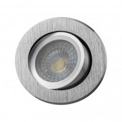 Oczko sufitowe RODA srebrne szczotkowane okrągłe LUMILIGHT