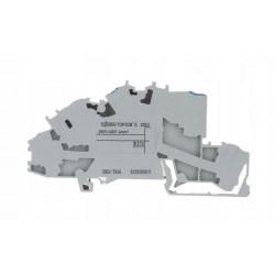 Złączka szynowa 3-piętrowa 4mm N/L/PE szara 2003-7646 WAGO