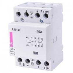 Stycznik modułowy 40A 230V AC 4z0r R40-40 ETI