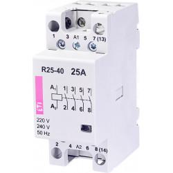 Stycznik modułowy 25A 230V AC 4z0r R25-40 230V ETI