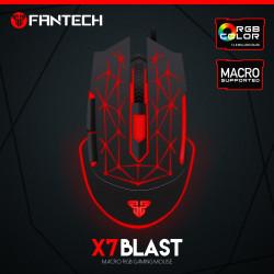 Mysz optyczna przewodowa X7 Blast black/red Fantech BOWI